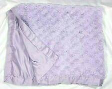 TIDDLIWINKS Baby Girl Purple Swirl Blanket Satin Edges 30x40 Lovey