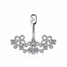 Crystal Paved on Floral Filigree Fan Add On Earring/Cartilage Barbell Jackets