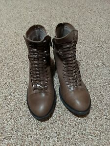 Antelope Gray Leather Boots 37 New