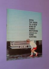 * PERFECT CONDITION * 1964-1965 * FORD CORTINA MK 1 * 16 PAGE SALES BROCHURE *