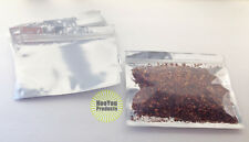 50 Silver/Clear (7x5.5) Foil Pouches Mylar Ziplock Bags, Smell Proof Packaging