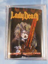 1994 CHAOS COMICS 1ST LADY DEATH CHROMIUM TRADING CARD SET #1-100 - MINT
