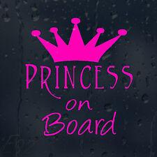 Princess On Board Pink Crown Car Decal Vinyl Sticker