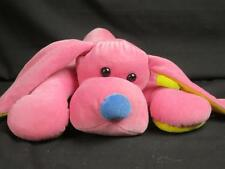 VINTAGE 1982 PTC PRESTIGE TOY PINK BLUE YELLOW PUPPY DOG PLUSH STUFFED ANIMAL