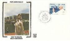 1980 POPE JOHN PAUL II BELO HORIZONTE BRAZIL POST COVER