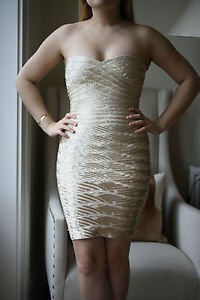 HERVE LEGER BEADED KERRA DRESS SMALL