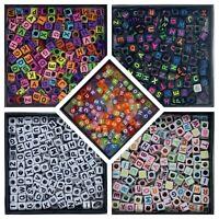 200 Acrylic Alphabet Beads - Square  6mm x 6mm