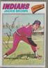 Autographed 1977 Topps Jackie Brown - Indians(Deceased)