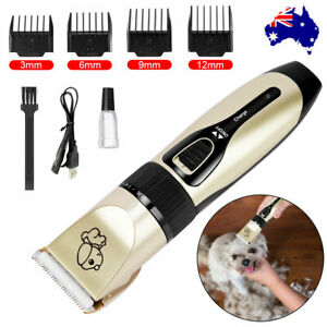 Cat Dog Pet Clippers Hair Electric Clipper Grooming Trimmer Shaver Cordless Kit
