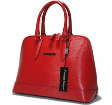 Cristiano Pompeo made in Italy handbag bag purse alma epi leather red Valentino