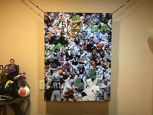 Huge 43x33 Oakland Raiders Vinyl Banner POSTER Bo Jackson Art Ken Stabler Carr .