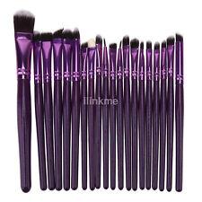 20pcs Purple Pro Makeup Tools Brushes Set Face Powder Eyeshadow Lip Brush US