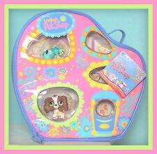 ❤NEW Littlest Pet Shop LPS Carry Case Cocker Spaniel #156 Frog #155 NWT Dog❤