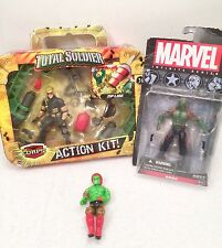 Mixed Lot Lanard Total Soldier Corps Action Figure Kit Zipline Marvel Drax-New