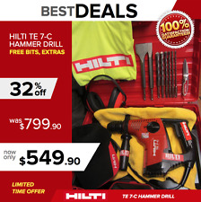 HILTI TE 7-C HAMMER DRILL, GREAT CONDITION, FREE EXTRAS, DURABLE, FAST SHIPPING
