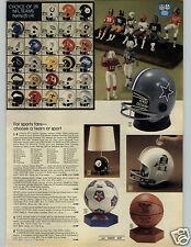 1979 PAPER AD NFL Figures Helmet Radio Lamp Bank NBA NASL Chiefs 49érs Falcons