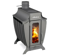 Stoker 100 Wood Burning Stove Heater Fireplace Furnace Built-In Ash-Pan Durable