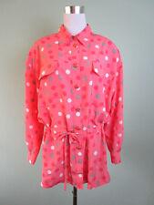 Womens Ladies Hardob Germany Polka Dots Trench Coat Jacket Plus size 20 3XL P61