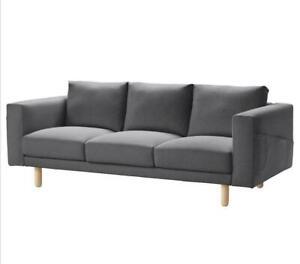 New IKEA cover set for Norsborg 3 seat sofa in FINNSTA DARK GREY 103.041.00