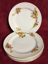 SET OF 4 CRAFTSMAN CHINA GOLDEN AUTUMN BREAD AND BUTTER PLATES  #20453