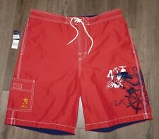 NWT Men's POLO RALPH LAUREN Red Eagle Mesh Lined Swim Board Shorts size XL