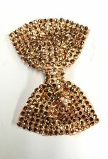 Ladies Fashion Shining Brand New Diamante Crystal Bow Hair Clip Large Size