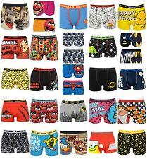 Mens Character Boxer Shorts Cartoon Superhero Novelty Underwear S M L XL XXL