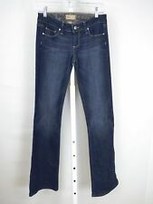 Paige Size 25/2 Low Rise Dark Wash Bootcut Jeans