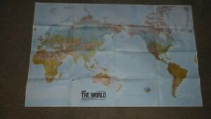 Qantas The World Map Women's Weekly Nice condition– see photo 105cm x 26cm 1970s
