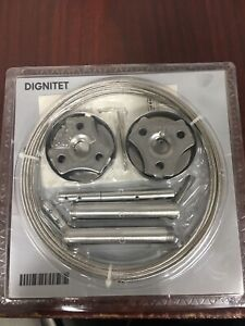 """IKEA Dignitet Curtain Wire 600.752.95 Stainless Steel 197"""" NEW #20325"""