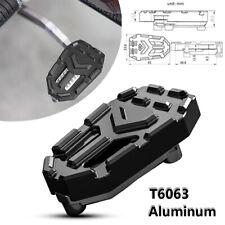 1PC Motorcycle Bikes Aluminum Widening Non-slip Brake Pedal Pad Black w/ Screw