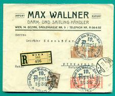 1938 AUSTRIA OSTMARK REKO BRIEF SSTP 10. APRIL  WIEN - PINKAFELD