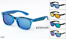 Kids Sunglasses Camo Design Classic Retro Flash Mirror Lens 1-7 Years UV 100%