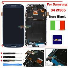 PER SAMSUNG GALAXY S4 i9505 LCD TOUCH SCREEN REPLACEMENT NERO DISPLAY FRAME GLS