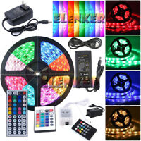 5M 10M 20M 3528 5050 5630 SMD 300LEDs RGB White LED Strip Light 12V Power Supply