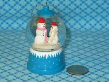 Martha Stewart Mini SNOWMAN SNOWGLOBE Water Globe Christmas Tree Ornament
