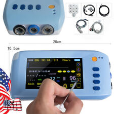 Handheld Patient Monitor Touch Screen 6 Parameter Vital Sign Icu Monitoring Usb