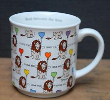 Sandra Boynton Coffee Mug Read Between the Lions Cup Balloons I Love You