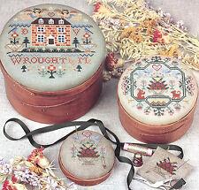 Samplers III Cross Stitch Pattern Sudberry House No. 55 Pin Cushion Shaker Box