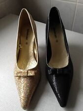 BNIB Ladies Kaleidoscope Glitter Court Shoes Size 8 in Black only