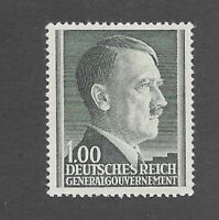 MNH stamp 1 Zloty / 1944 issue / Adolph Hitler / Third Reich / Poland occupation