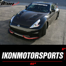40 x 5 Ikon Motorsports Windshield Banner Vinyl Decal White