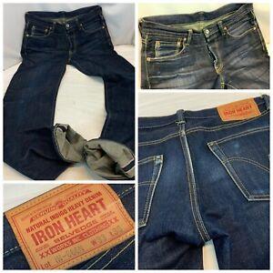 Iron Heart Redline Selvedge 17 Oz Jeans 33x36 Dark IH-666N Made Japan YGI A1-309