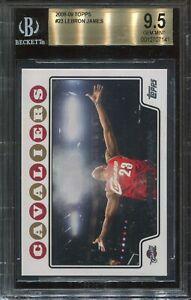 2008 Topps Basketball #23 Lebron James BGS 9.5 Gem Mint (psa 10) Chalk Toss