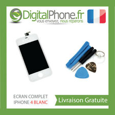 Ecran LCD + Vitre Tactile + Bouton Home - iPhone 4 Blan
