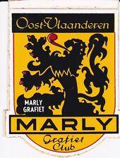 VINTAGE STICKER VLAAMSE LEEUW MARLY GRAFIET CLUB