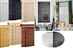 PVC Blinds Easy Fit Trimable Home Office Window Venetian Blind All Size & Colors