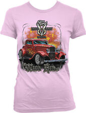 Ford v8 Deuce Wild Ride Classic Vintage Muscle Cars HotRod Juniors T-shirt