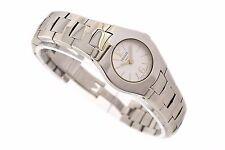 Vintage 1853 Tissot L520 Acero Inoxidable Cuarzo petite señoras reloj 1342