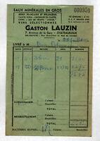 """CHATEAUROUX (36) BRASSEUR & VINS en gros """"Gaston LAUZIN"""" en 1956"""